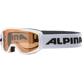 Alpina Piney Goggles Børn, white/orange